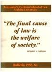 1983-1984 by Benjamin N. Cardozo School of Law