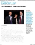 Top Alumni Honored at Alumni Association Dinner by Benjamin N. Cardozo School of Law