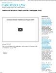 Cardozo's Intensive Trial Advocacy Program (ITAP) by Benjamin N. Cardozo School of Law