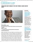 Professor Ekow Yankah in The New Yorker- Seeing Walter Scott by Benjamin N. Cardozo School of Law