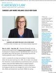 Cardozo Law Names Melanie Leslie New Dean by Benjamin N. Cardozo School of Law