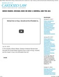 Bench Marks- Michael Herz on King v. Burwell and the ACA by Benjamin N. Cardozo School of Law