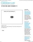 My New York- Danny Sternberg '15 by Benjamin N. Cardozo School of Law