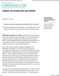 Cardozo Law Expands Data Law Program by Benjamin N. Cardozo School of Law