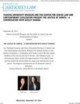 Yeshiva University Museum and the Center for Jewish Law and Contemporary Civilization present The Justice of Shmita - A Conversation With Ayelet Shaked by Benjamin N. Cardozo School of Law
