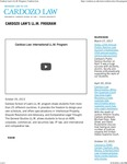 Cardozo Law's LL.M. Program by Benjamin N. Cardozo School of Law