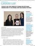 Sisters in Law- How Sandra Day O'Connor and Ruth Bader Ginsburg Went to the Supreme Court and Changed the World
