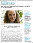 Dean Leslie Announces Michelle Greenberg-Kobrin as Director of the Indie Film Clinic by Benjamin N. Cardozo School of Law
