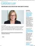 Dean Melanie Leslie Cited by New York Court of Appeals
