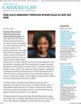 Dean Leslie Announces Professor Myriam Gilles as New Vice Dean
