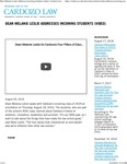 Dean Melanie Leslie Addresses Incoming Students (video)
