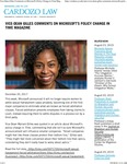 Vice-Dean Gilles Comments on Microsoft's Policy Change in Time Magazine by Benjamin N. Cardozo School of Law