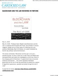 Blockchain and the Law Reviewed in Fortune