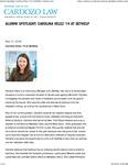 Alumni Spotlight- Carolina Velez '14 at GetHelp by Benjamin N . Cardozo School of Law