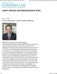 Faculty Spotlight- ADR Professor David M. White