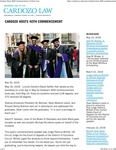 Cardozo Hosts 40th Commencement