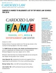Cardozo is Named to Billboard's List of Top Music Law Schools for 2018