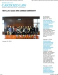 New LL.M. Class Joins Cardozo Community