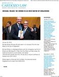 Michael Wildes '89 Sworn in as New Mayor of Englewood