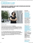 Professor Betsy Ginsberg Talks about Metropolitan Detention Center and Prisoners' Rights