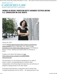 Women In Prison- Professor Betsy Ginsberg Testifies Before U.S. Commission on Civil Rights