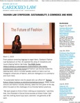 Fashion Law Symposium- Sustainability, E-commerce and More