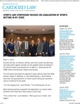 Sports Law Symposium Focuses on Legalization of Sports Betting in NY State