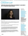 Professor Jessica Roth Appears on Bloomberg TV and MSNBC's The 11th Hour with Brian Williams