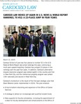 Cardozo Law Moves Up Again in U.S. News & World Report Rankings, to #52- A 23-Place Jump in Four Years