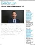 Professor Sam Weinstein interviewed on KCBS