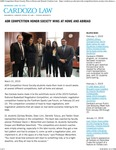ADR Competition Honor Society Wins at Home and Abroad by Benjamin N. Cardozo School of Law