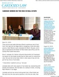 Cardozo Women on the Rise in Real Estate