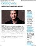 Professor Huigens Writes Op-ed in The Hill