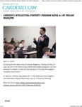 Cardozo's Intellectual Property Program Rated A+ by preLaw Magazine