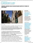 Cardozo Launches Data-Focused Online Master of Studies in Law Degree by Benjamin N. Cardozo School of Law
