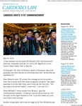 Cardozo Hosts 41st Commencement by Benjamin N. Cardozo School of Law