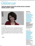 Professor Deborah Pearlstein Authors Article in Harvard National Security Journal