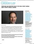 Professor Sam Weinstein talks to The Wall Street Journal about Sprint-T-Mobile's Merger