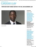 Professor Ekow Yankah Quoted in The Hill and Bloomberg Law