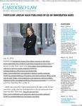 Professor Lindsay Nash Published Op-Ed on Immigration Raids