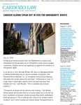 Cardozo Alumni Speak out in Vice For Immigrants' Rights by Benjamin N. Cardozo School of Law