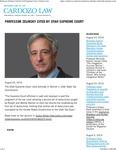 Professor Zelinsky Cited by Utah Supreme Court