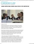 Burns Center Panel Covers Legal Ethics in the #MeToo Era by Benjamin N. Cardozo School of Law