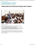 Cardozo Ranked #22 in Hein Online Scholarly Impact Rankings