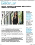Professor Kate Shaw Talks Impeachment on ABC; Cited in New Yorker piece on Justice Kagan