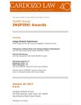 Twelfth Annual INSPIRE! Awards by Cardozo Center for Public Service Law