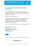 The Fifth Annual Cardozo Sports Law Symposium