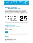 Voices for Innocence: Hosted by Katie Couric