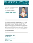 Comic Law Con! by Cardozo Arts & Entertainment Law Journal (AELJ)
