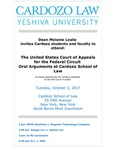 The United States Court of Appeals for the Federal Circuit Oral Arguments at Cardozo School of Law